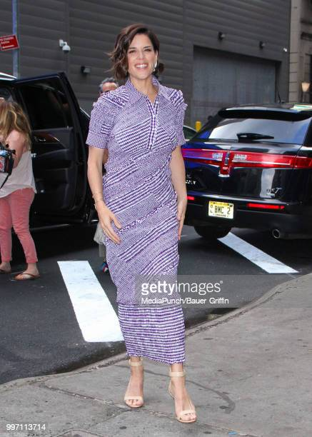 Neve Campbell is seen on July 12 2018 in New York City