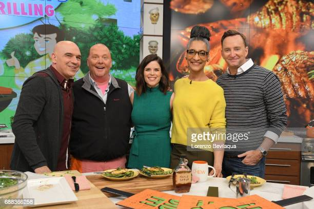 THE CHEW Neve Campbell is the guest today Thursday May 25 2017 on Walt Disney Television via Getty Images's The Chew The Chew airs MONDAY FRIDAY on...