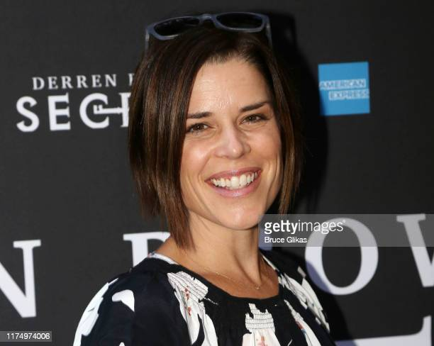 Neve Campbell poses at the opening night of Derren Brown Secret on Broadway at The Cort Theatre on September 15 2019 in New York City