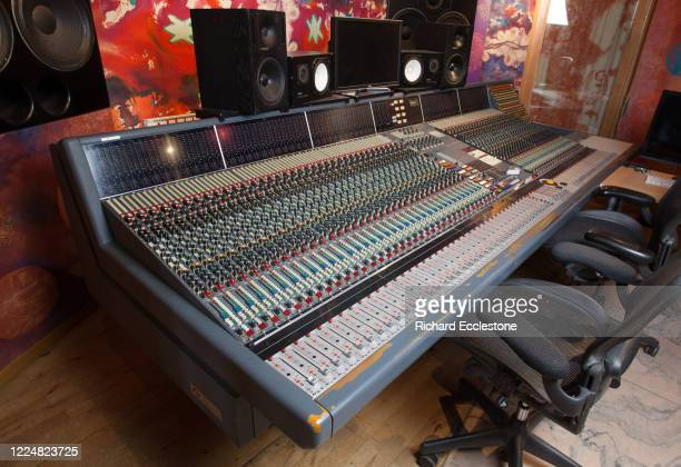 Neve VR60 Console mixing desk in the control room of The Strongroom 1 recording studio London United Kingdom 2014