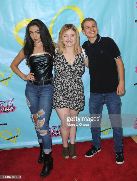 Neven Crisorio Maegan Cohen and Ethan Klein attend the Release Party For Dani Cohn And Mikey Tua's Song Somebody Like You held at The Industry Loft...