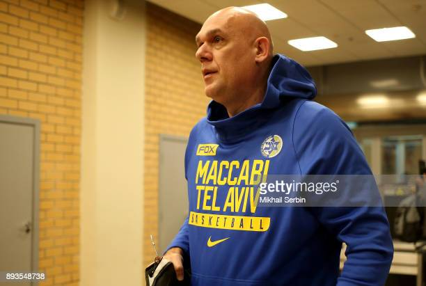 Neven Spahija Head Coach of Maccabi Fox Tel Aviv arriving to the 2017/2018 Turkish Airlines EuroLeague Regular Season Round 12 game between CSKA...