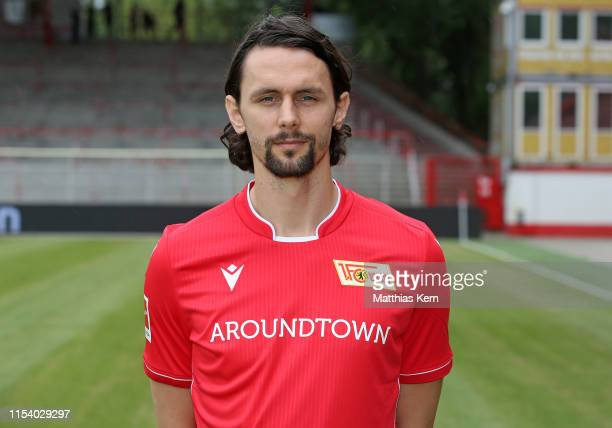 Neven Subotic of 1.FC Union Berlin poses during the team presentation at Stadion an der Alten Foersterei on July 6, 2019 in Berlin, Germany.