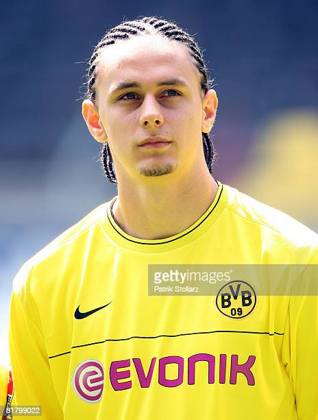Neven Subotic of Borussia Dortmund looks on during the first Borussia Dortmund training session at Signal Iduna Park on July 2 2008 in Dortmund...