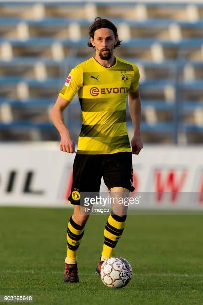 Neven Subotic of Dortmund controls the ball during the Friendly match between Borussia Dortmund and SV Zulte Waregem at Estadio Municipal de Marbella...