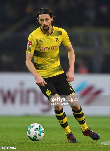 Neven Subotic of Dortmund in action during the Bundesliga match between Borussia Dortmund and SV Werder Bremen at Signal Iduna Park on December 9...