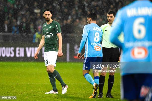 Neven Subotic of Saint Etienne during the Ligue 1 match between AS SaintEtienne and Olympique Marseille at Stade GeoffroyGuichard on February 9 2018...