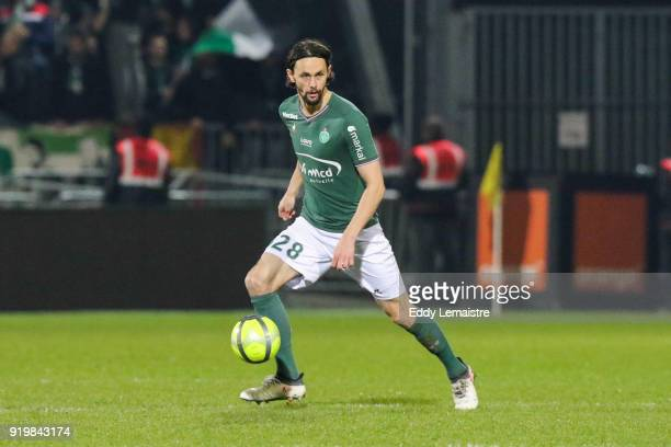 Neven Subotic of Saint Etienne during the Ligue 1 match between Angers SCO and AS SaintEtienne at Stade Raymond Kopa on February 17 2018 in Angers