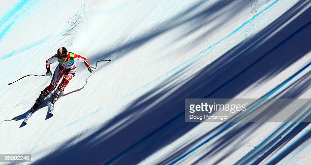 Nevena Ignjatovic of Serbia competes in the women's alpine skiing SuperG on day nine of the Vancouver 2010 Winter Olympics at Whistler Creekside on...