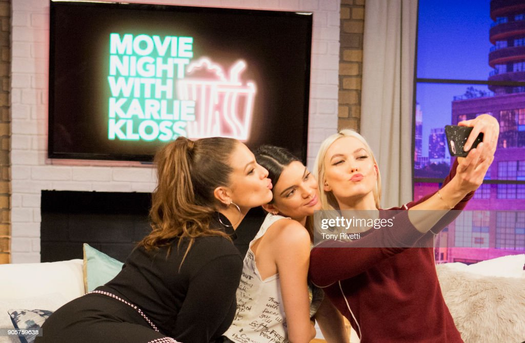 KLOSS - 'Never Been Kissed' - Karlie and her guests, Ashley Graham, Lilly Singh and Kendall Jenner, watch the classic romantic comedy Never Been Kissed, while discussing flashback fashion, first kisses, high school days and bullying. This episode of 'Movie Night with Karlie Kloss' airs Monday, Jan. 29 (8:30 - 11:00 P.M. EST) on Freeform. ASHLEY