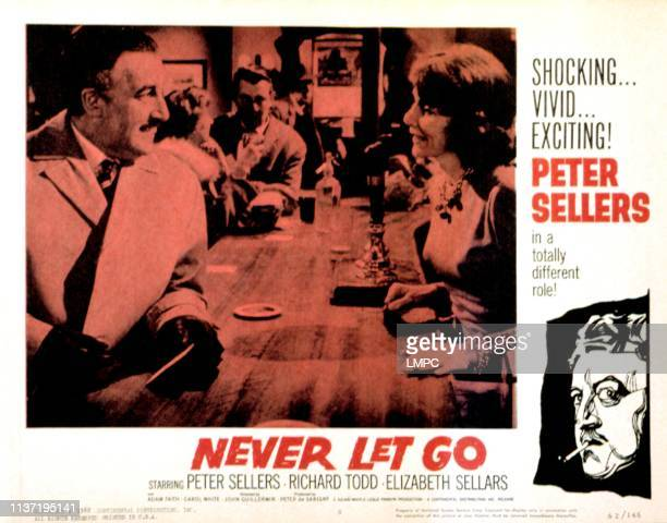 Never Let Go lobbycard Peter Sellers Elizabeth Sellars 1960