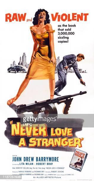 Never Love A Stranger poster US poster from left Lita Milan John Drey Barrymore 1958