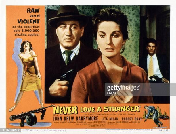 Never Love A Stranger US lobbycard Lita MIlan 1958