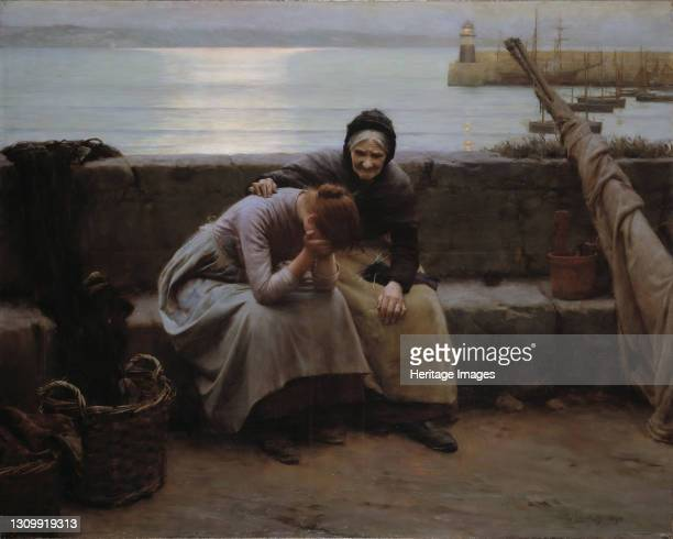 Never Morning Wore to Evening but Some Heart Did Break, 1894. Artist Walter Langley. .