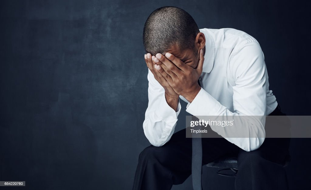 I never thought I would have to face failure : Stock Photo