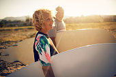 Never too old for surfing