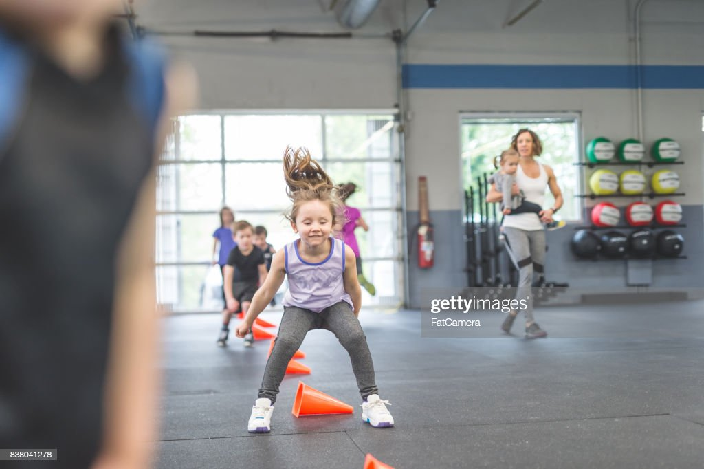 Never too young to start training : Stock Photo