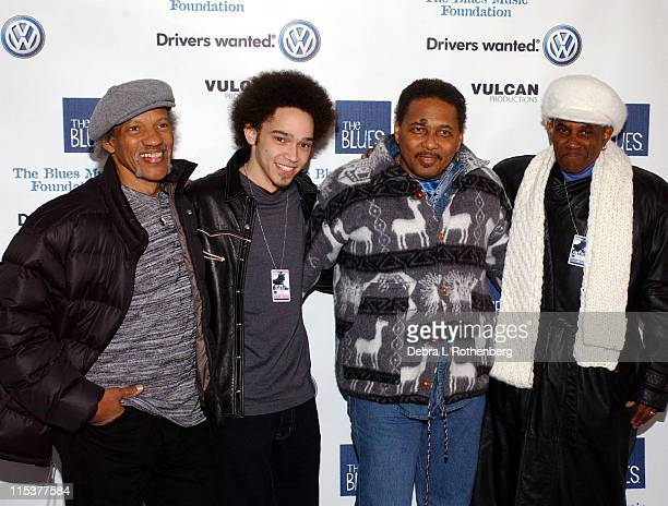 Neville Brothers during Arrivals for The Salute To The Blues Concert at Radio City Music Hall in New York, NY, United States.