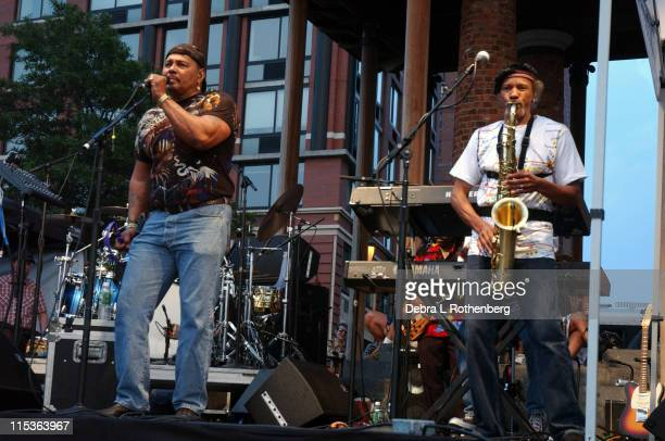 Neville Brothers during Neville Brothers Live In Concert at Rockefeller Park in New York City, New York, United States.