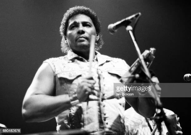 Neville Brothers performing on stage at Town & Country Club, Kentish Town, London 08 October 1989.
