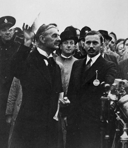 Neville Chamberlain British Prime Minister Returns From Signing The