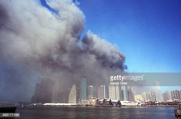 Neville Elder's photographs of downtown Manhattan on 9/11/01 were published worldwide ten years later he returned to the same places where he made...