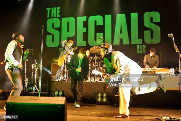 Neville Staple Roddy Radiation Terry Hall and Lynval Golding of the Specials perform at Brixton Academy on May 8 2009 in London England