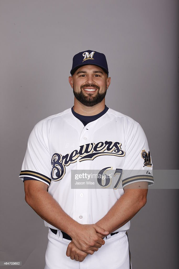 Nevin Ashley #67 of the Milwaukee Brewers poses during Photo Day on Friday, February 27, 2015 at Maryvale Baseball Park in Phoenix, Arizona.