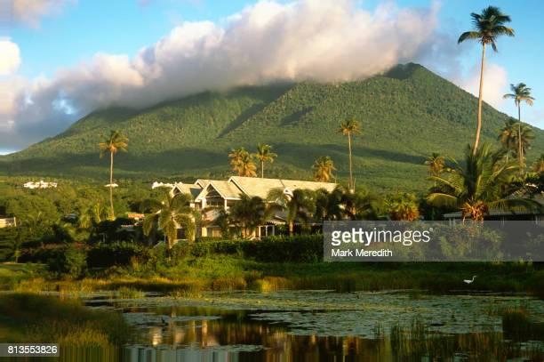 Nevis Peak in St Kitts and Nevis