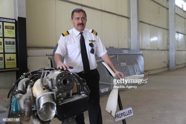 Nevro Abdelkader an instructor at the Bazara Aviation Academy speaks to media at a airfield formerly used for agricultural purposes in Sulaymaniyah...