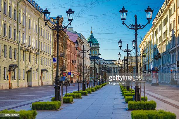 Nevsky Prospect with Kazan Cathedral, St. Petersburg
