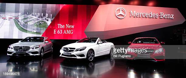 New 2014 Mercedes-Benz E-Class vehicles are shown at the 2013 North American International Auto Show media preview at the Cobo Center January 14,...