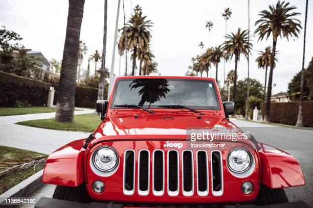 new 2019 jeep wrangler in beverly drive los angeles - jeep stock pictures, royalty-free photos & images