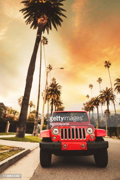 new 2019 jeep wrangler in beverly drive los angeles - jeep wrangler stock photos and pictures