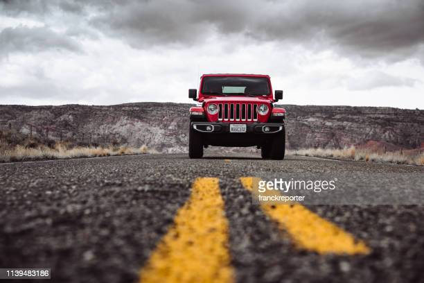 new 2019 jeep wrangler in page city, arizona - jeep wrangler stock photos and pictures