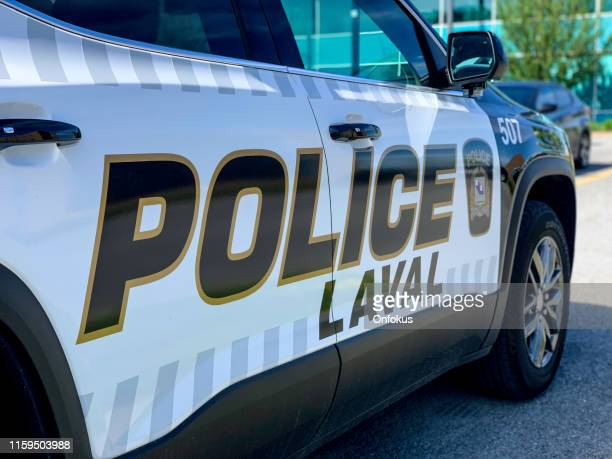 new 2019 laval police black and white patrol car - laval canada stock pictures, royalty-free photos & images