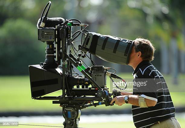New '3D' television cameras capture the action during the second round of the Sony Open in Hawaii held at Waialae Country Club on January 15 2010 in...