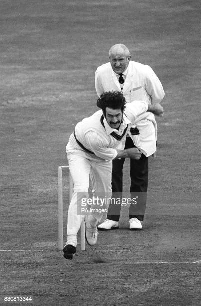A new action picture of Australian Touring team player Dennis Lillee an instinctive and agressive fast bowler of genuine pace who dominated the 1972...