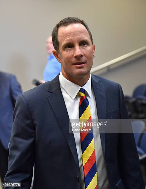 New Adelaide Football Club senior coach Don Pyke speaks to the media during an Adelaide Crows AFL press conference at AAMI Stadium on October 9 2015...