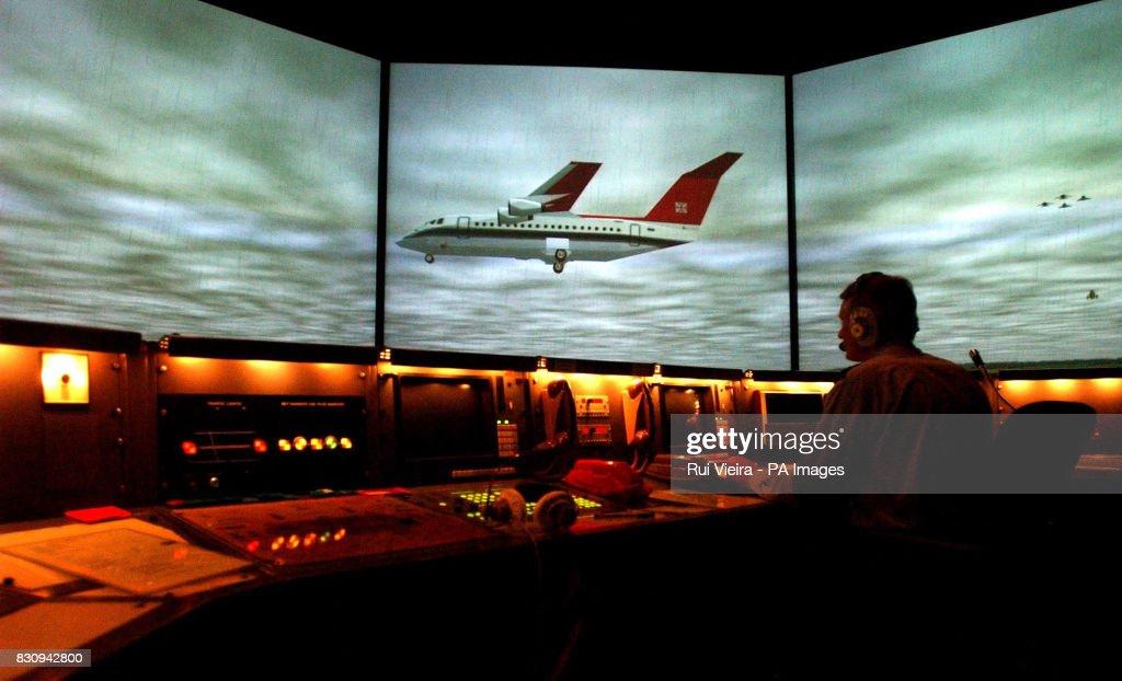 A new air traffic control simulator at RAF Shawbury, near