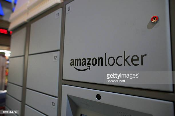 A new Amazon delivery locker system which routes Amazon shipments to a publiclyaccessible locale is viewed in a grocery store on November 16 2011 in...