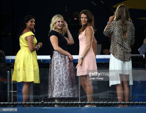 New Amazon Prime TV prsenters Catherine Whitaker and Annabel Croft are seen during previews for the US Open at USTA Billie Jean King National Tennis...