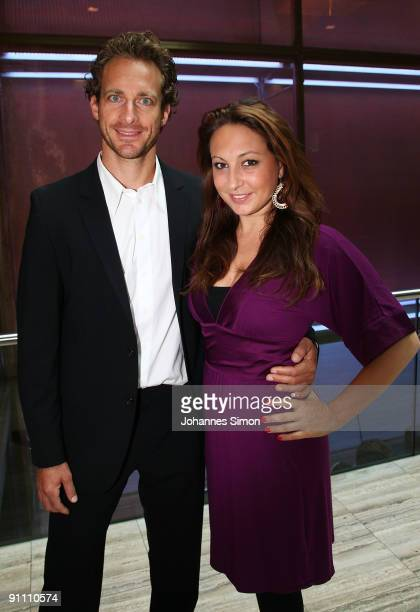New ambassador for the Jose Carreras Leukaemia foundation Tim Lobinger and girlfriend Alina Baumann attend the announcement ceremony on September 24...