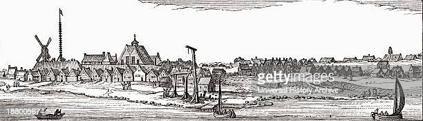 New Amsterdam 17ThCentury Dutch Colonial Settlement That Became The City Now Known As New York City From The Book Short History Of The English People...