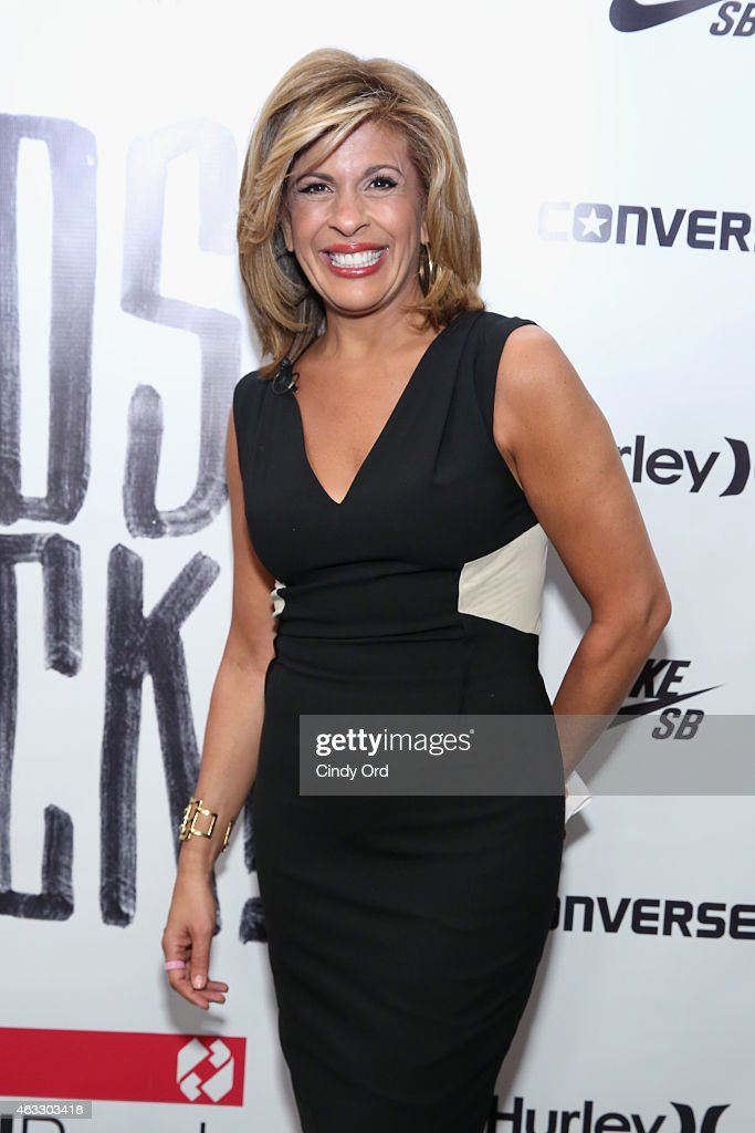 New anchor Hoda Kotb prepares backstage at the Nike Levi's Kids fashion show during Mercedes-Benz Fashion Week Fall 2015 at The Salon at Lincoln Center on February 12, 2015 in New York City.