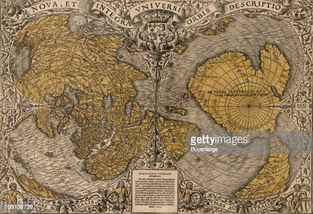 A new and accurate map of the entire world by the French mathematician and cartographer Oronce Fine 1531