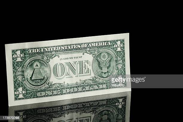 A new and crisp one dollar bill