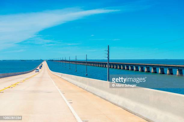 new and old 7 mile bridges in florida keys usa - seven mile bridge stock pictures, royalty-free photos & images