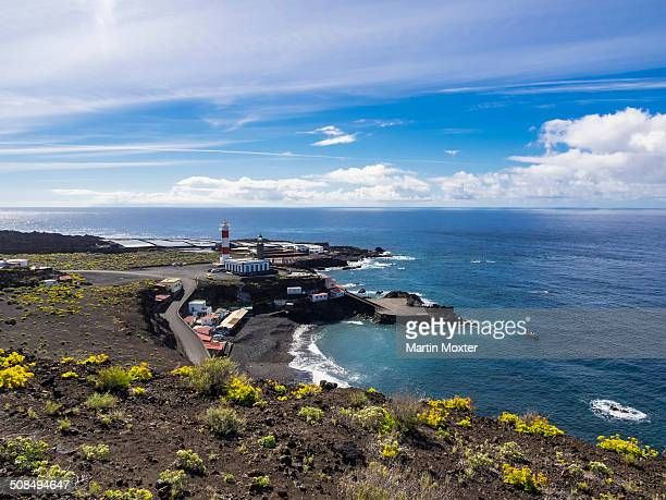 New and old lighthouse at Faro de Fuencaliente, Los Quemados, south coast, La Palma, Canary Islands, Spain