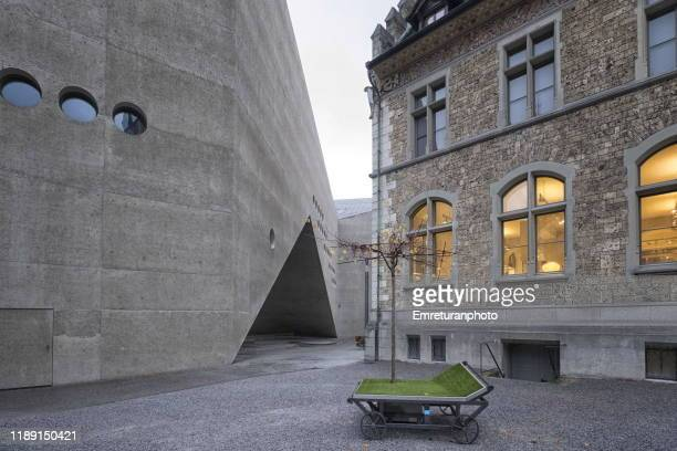 new and old section of swiss national museum,zurich. - emreturanphoto stock pictures, royalty-free photos & images